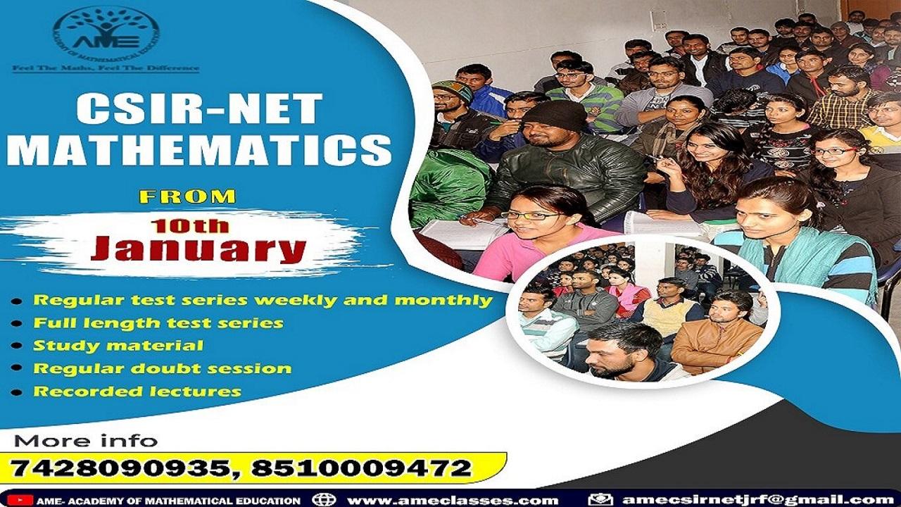 CSIR NET,IIT JAM,GATE,Coaching in Delhi NCR | Ameclasses
